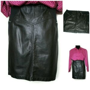 SZ 22 Faux Leather Skirt